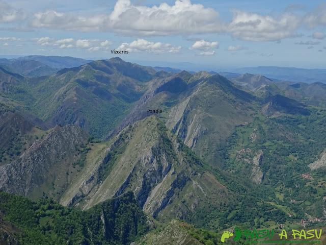 Ruta al Pierzu desde Priesca: Vista del Vízcares