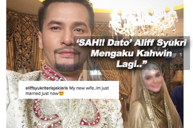 "Isteri Baru Datuk Aliff Syukri Diperkenal, ""Ini Isteri Baru Saya, Kami Baru Kahwin Tadi"""