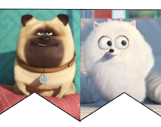 Secret Life of Pets Free Party Banner