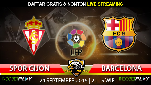 Prediksi Sporting Gijon vs Barcelona 24 September 2016 (Liga Spanyol)