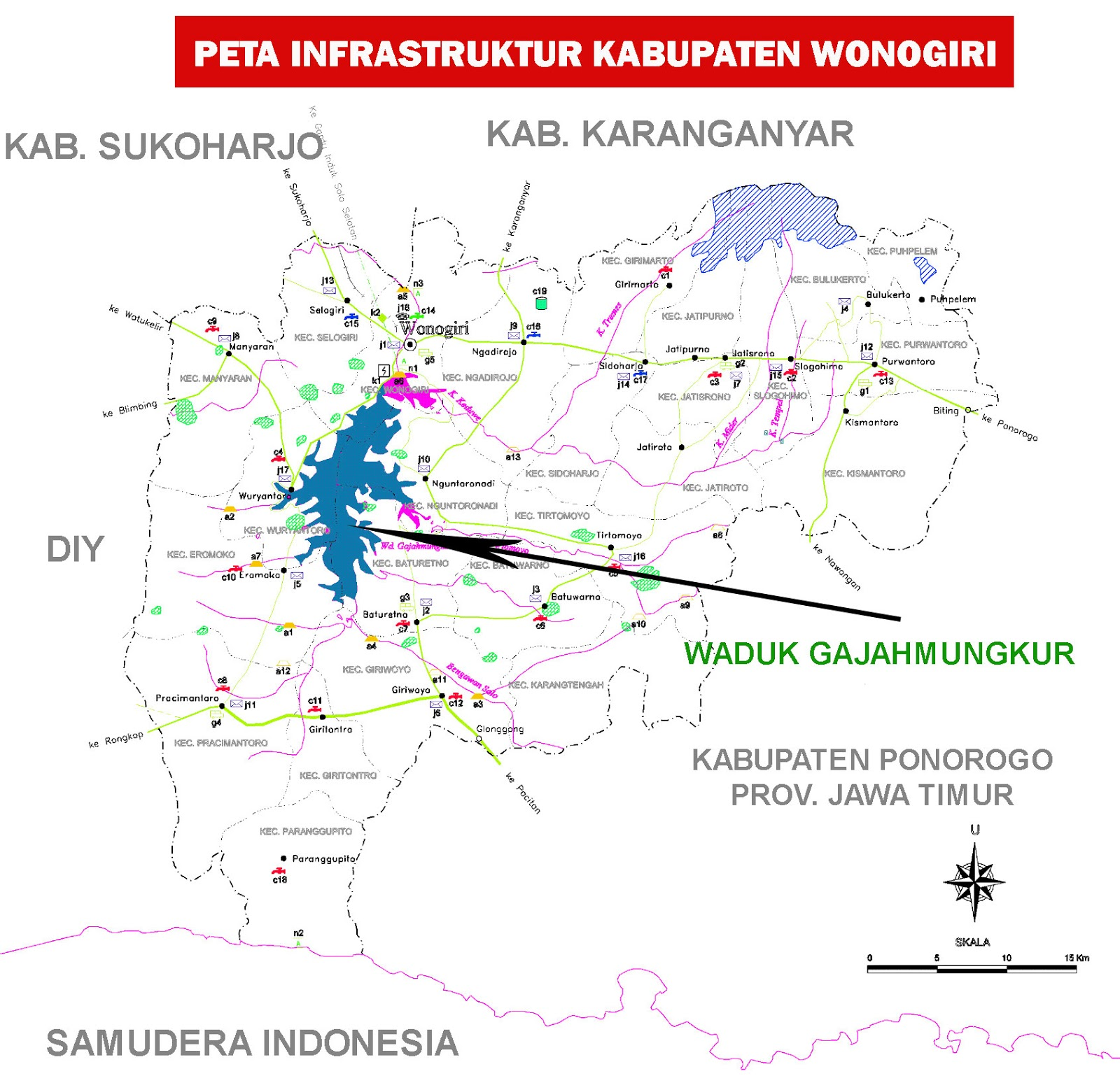 Peta Kabupaten Wonogiri | | Sejarah Indonesia | Peta Dunia ...