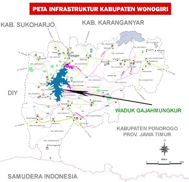 Gambar Peta Infrastruktur kabupaten Wonogiri