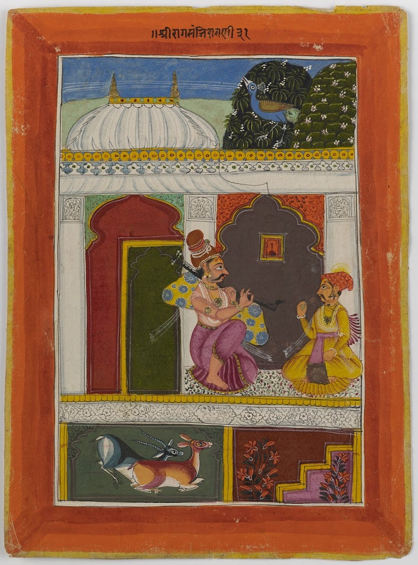 Kedar Ragini, From a Ragamala series - Indian Miniature Painting, Sirohi, c. 1690