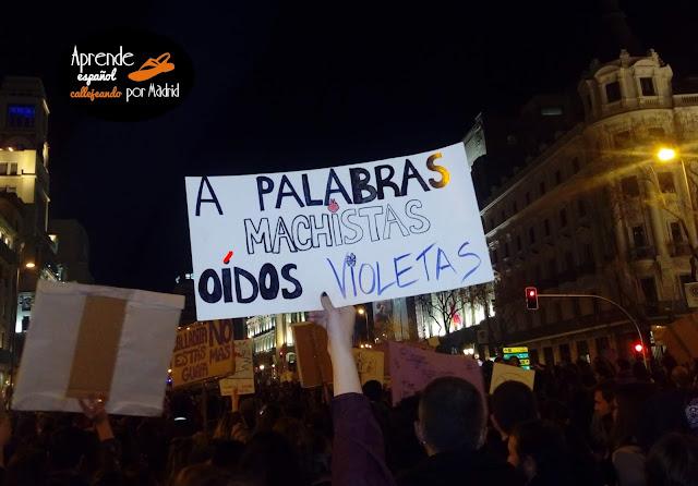 Aprende español callejeando por Madrid: Calladita no estás más guapa