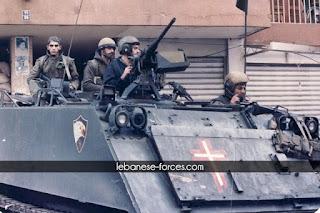 Lebanese Forces militia M113 armor