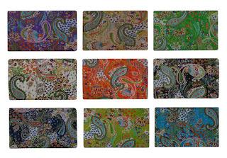 Wholesale Queen Size Paisley Design Kantha Quilt Handmade Cotton Kantha Bedspread