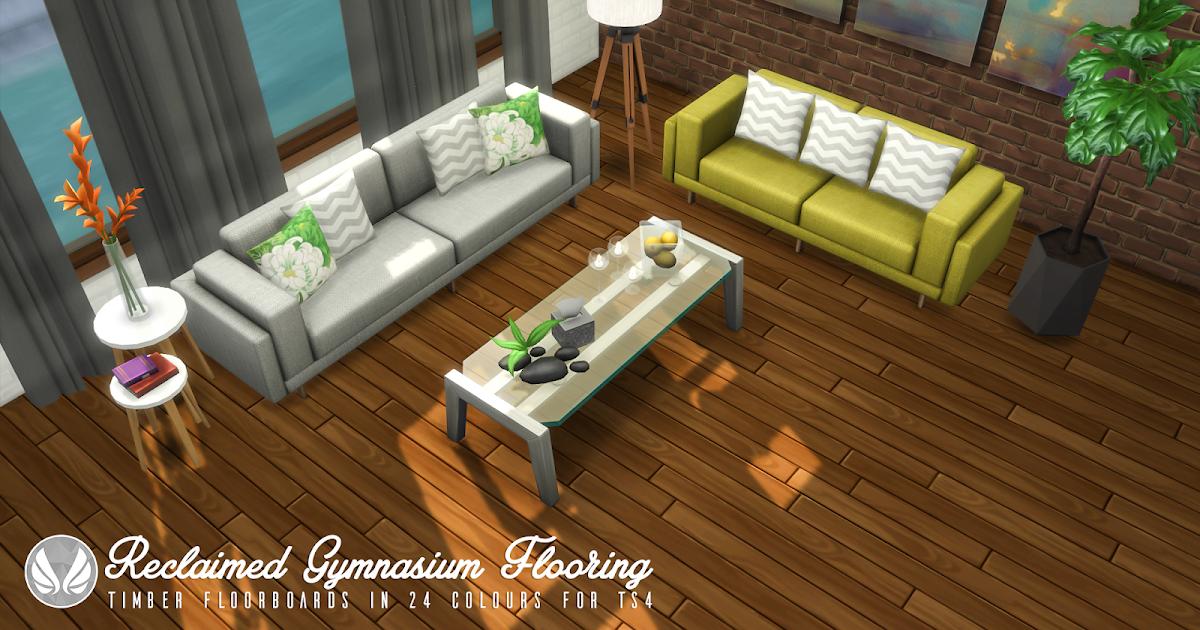 Simsational Designs Reclaimed Gymnasium Flooring