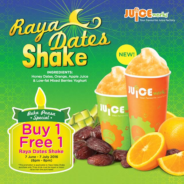 Juice Works Buy 1 Free 1 Buka Puasa Special
