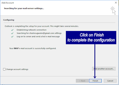 Microsoft Outlook Configuration Finish