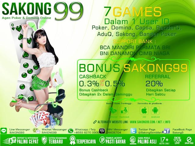 SAKONG99 Agen Remi9 judi Sakong Bandar Poker Online Indonesia