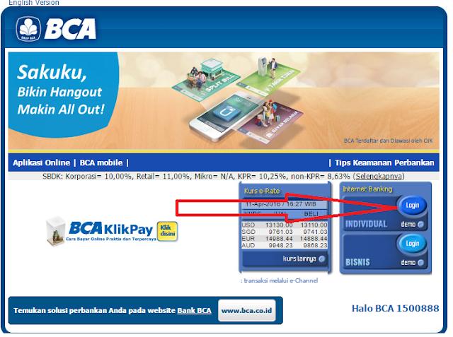 Cara Aktivasi internet banking bank BCA