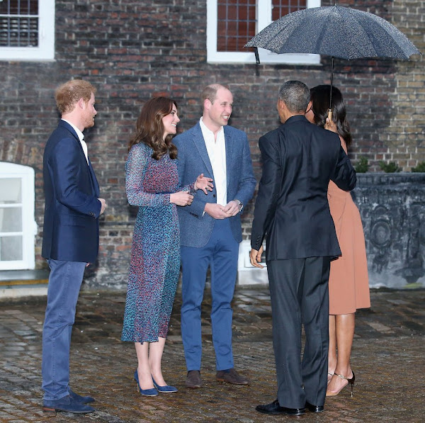 Prince William, Duchess Catherine And Harry Dine With