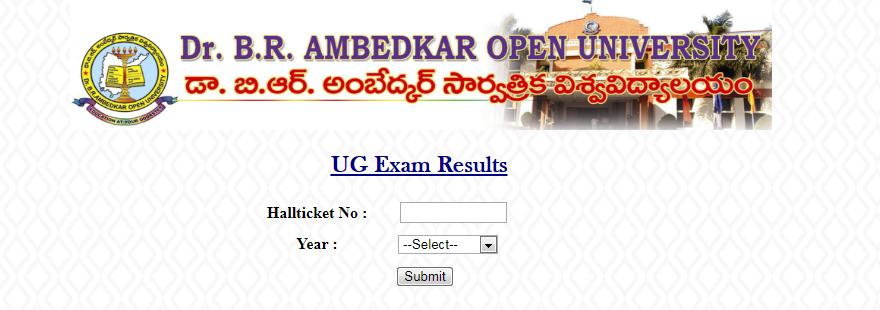 Dr.B.R Ambedkar Open University (BRAOU) UG /Degree Exam Results 2017