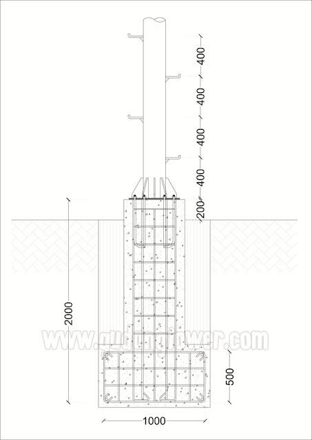 Tower Monopole 25 meter