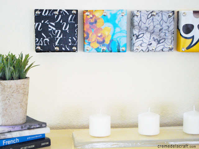 DIY: Mini Wall Art From Shoebox Lids