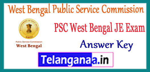 WBPSC West Bengal Public Service Commission JE Answer Key 2017 Expected Cutoff Result