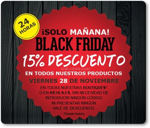 28/11 - BLACKFRIDAY - KIEHL'S
