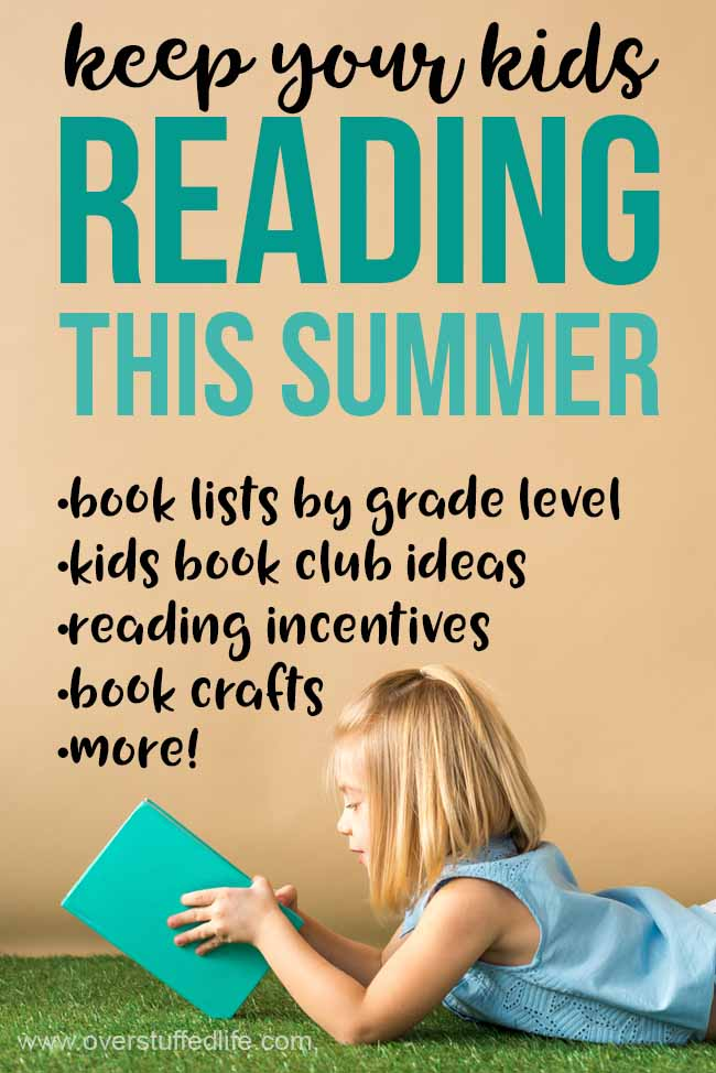 Keep your kids reading this summer with all kinds of great ideas including book lists by grade level, kids book club ideas, reading incentives and motivations, books crafts, reading printables and more!
