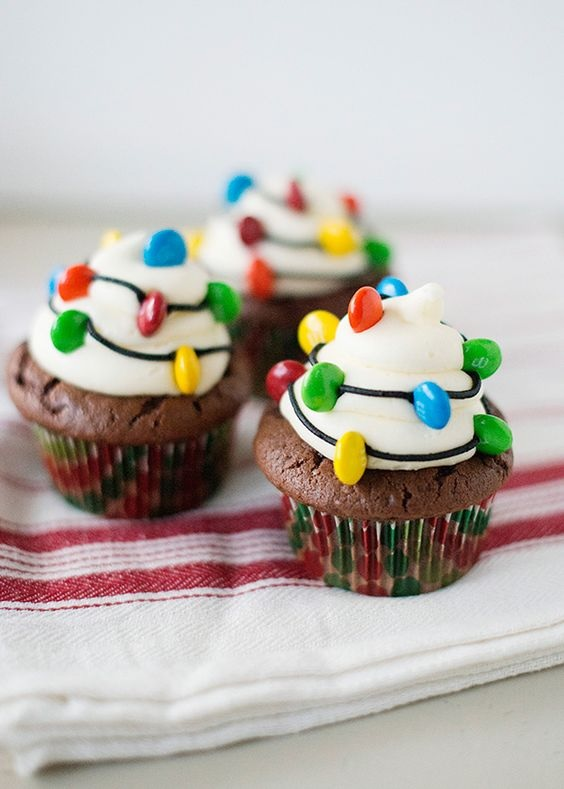 Christmas Light Cupcakes