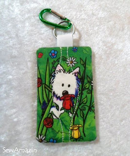 Garden Westies Keyring/Card Holder