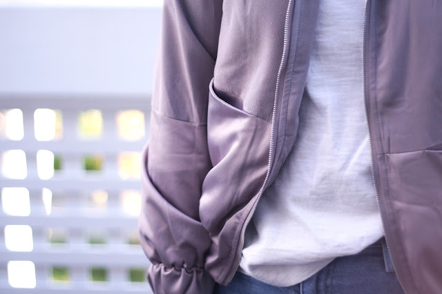 Muted color palette, color block jacket, bomber jacket, SheIn