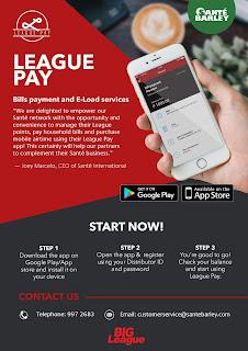 League Pay app poster