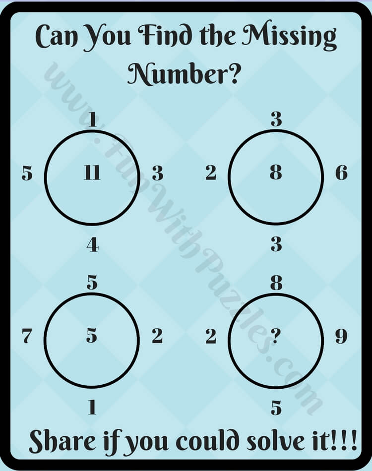 Maths Logic Circle Puzzle Questions with Answers for School Students ...