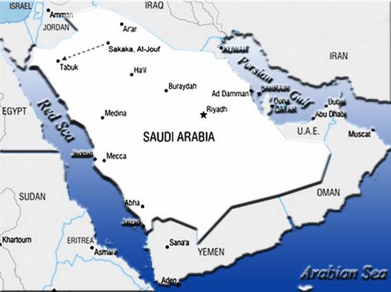 Gambar Peta Jazirah Arab