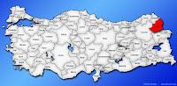 Kars ilinin Türkiye haritasında gösterimi