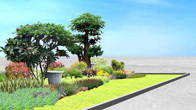 Desain Taman Median Jalan oleh Jasa Tukang Taman Surabaya 5