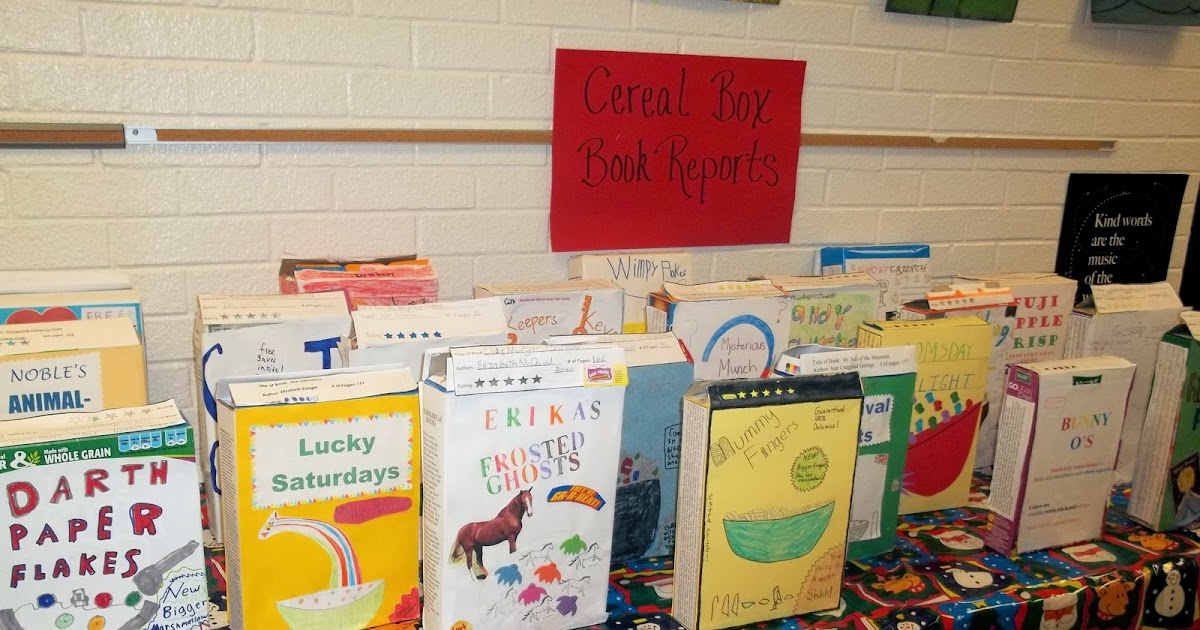 Book Report Cereal Box Project - Yamsixteen