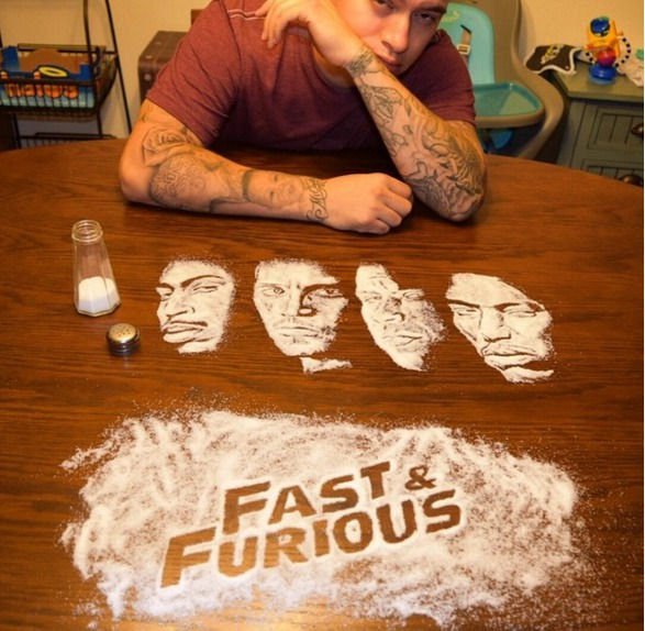 12-Fast-and-Furious-Rob-Ferrel-Rob-the-Original-Drawing-Portraits-with-Salt-www-designstack-co