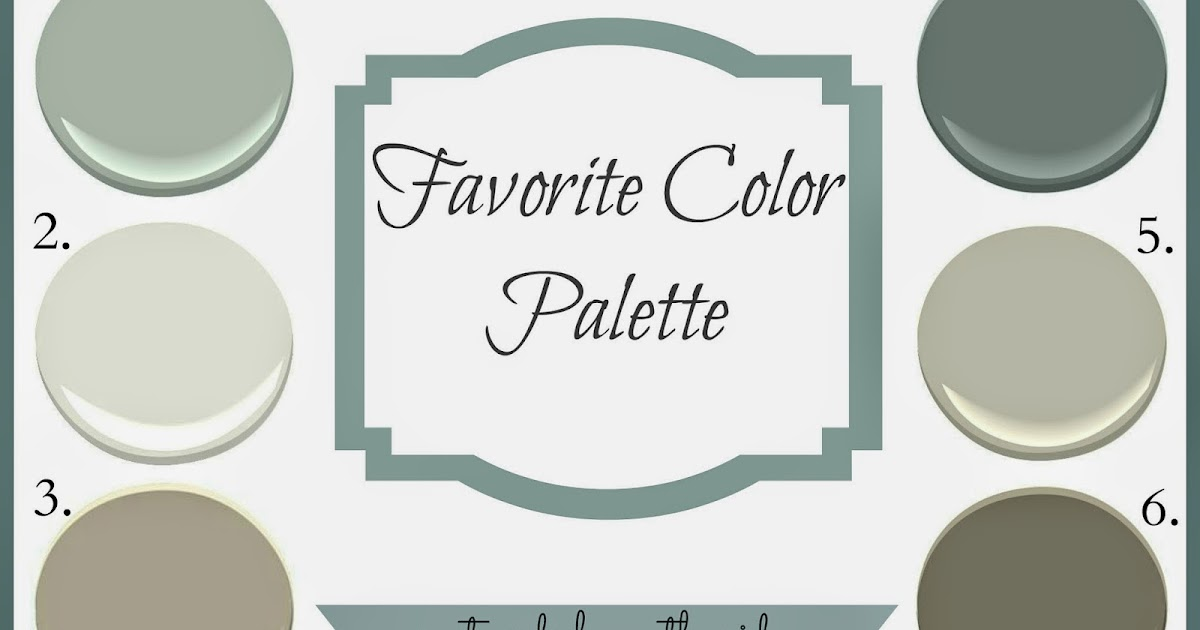 Revere Pewter Favorite Color Palette Postcards From The