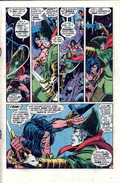 Conan the Barbarian v1 #14 marvel comic book page art by Barry Windsor Smith