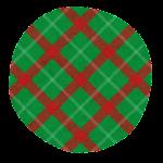 クリスマスのマーク(チェック・緑の丸)