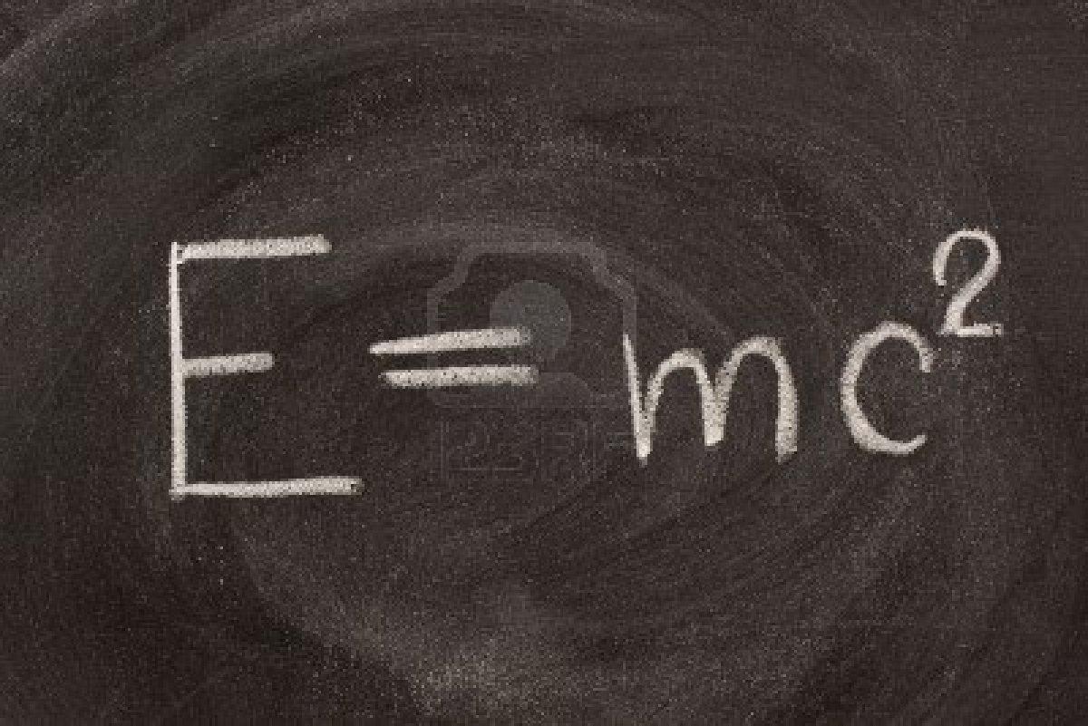 E=mc2. Energy equals mass times the spee by Albert ...
