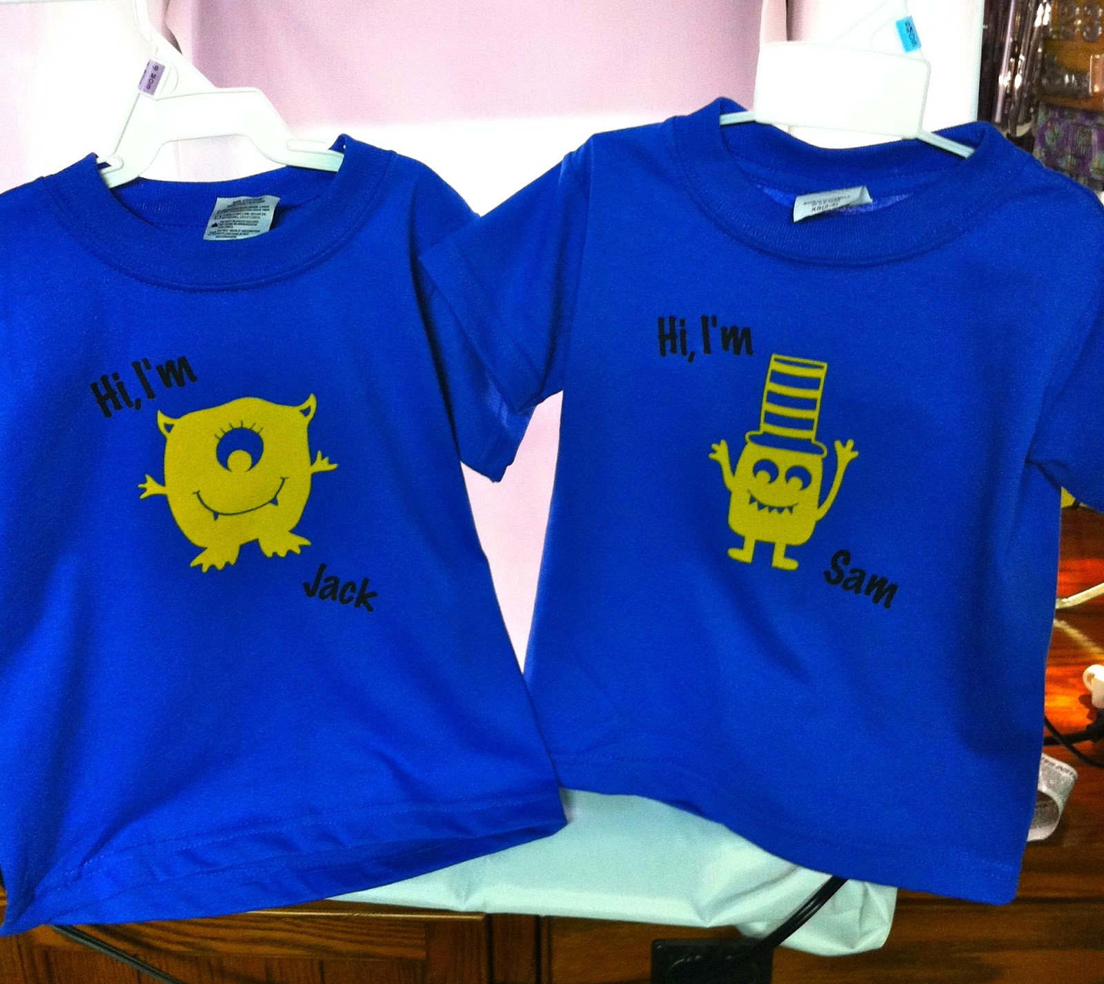 I Created As A Birthday Gift For 3 Year Old Twins Got The Idea From Shirts Friend Of My Moms Had Made Twin Brothers When They Were Little