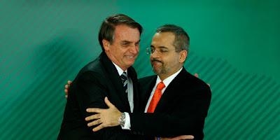 Abraham Weintraub e Jair Bolsonaro - Blog do Asno
