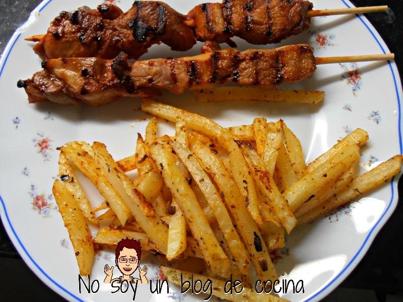 Patatas fritas al horno no soy un blog de cocina - Patatas pequenas al horno ...