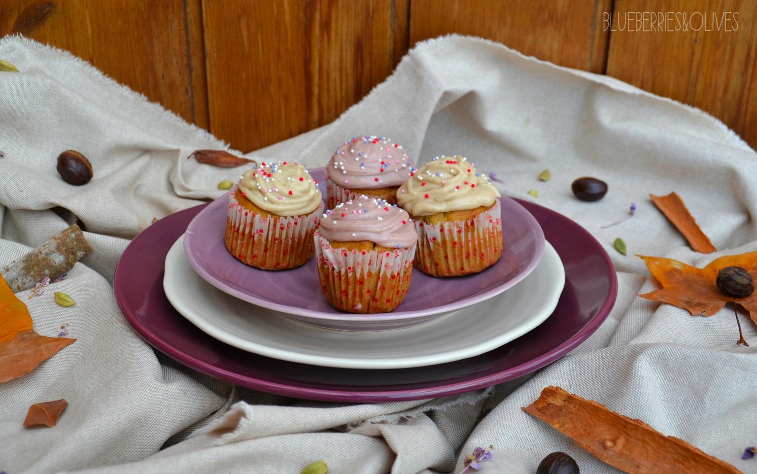 Cupcakes de calabacín, cardamomo y anís 8
