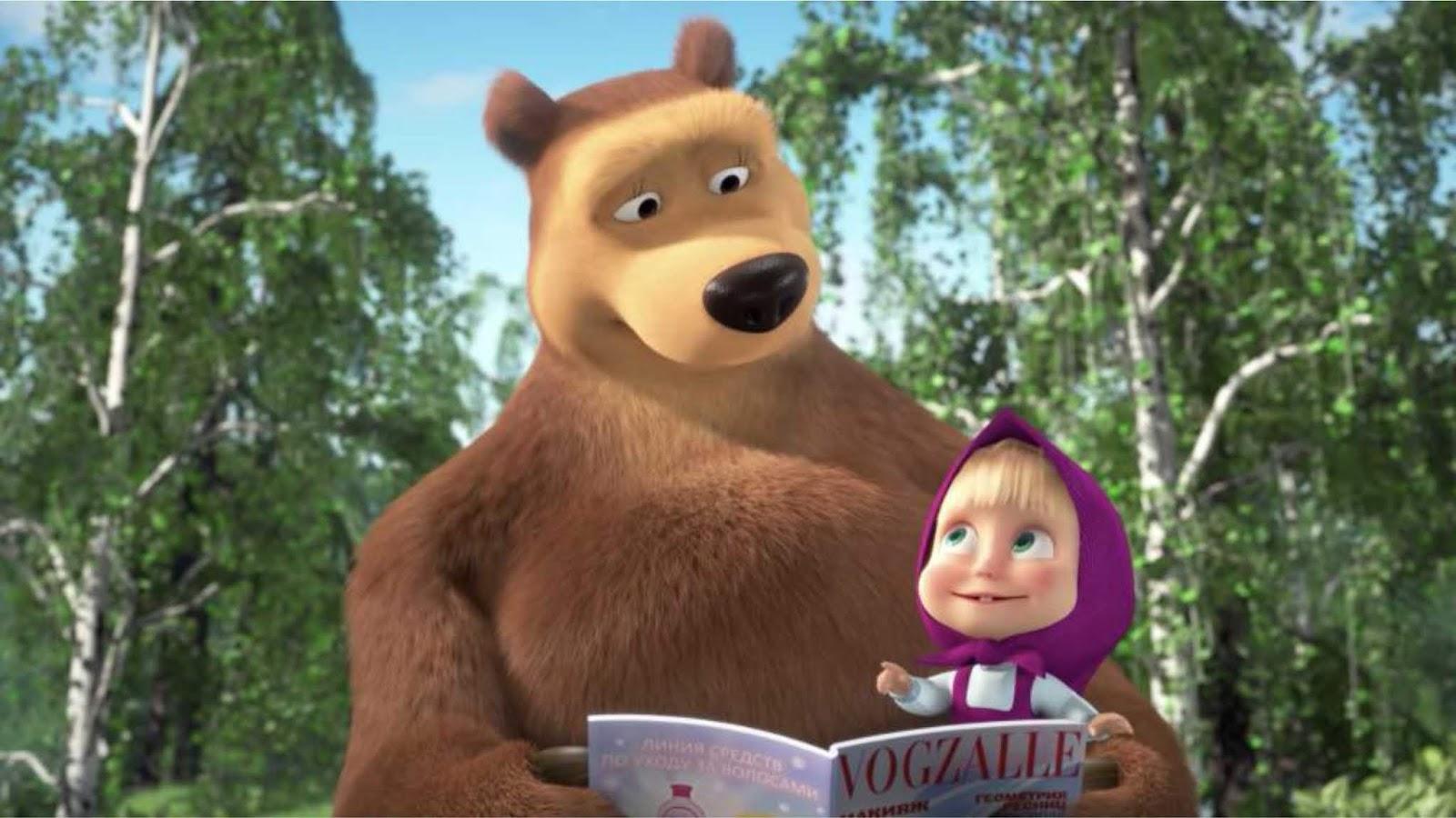 Media Inggris menyebut Masha and the Bear propaganda dari Kremlin