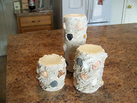 Beach Souvenir Pillar Candles | scriptureand.blogspot.com