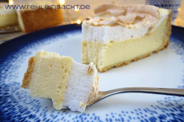 Quarkkuchen mit Tränchen-Baiser | Foodblog rehlein backt