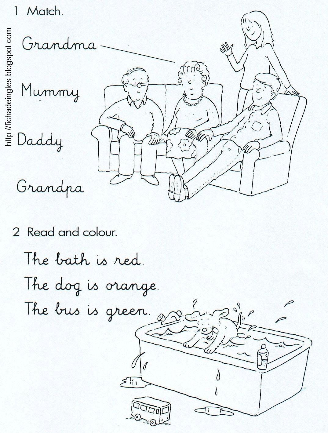 Mi Familia Words Worksheet