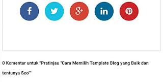 cara memilih template blog yang baik dan seo