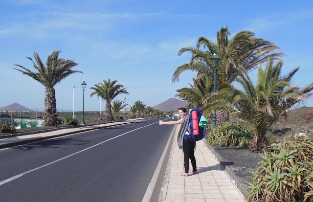 Lanzarote, Wyspy Kanaryjskie, autostop, spanie w namiocie