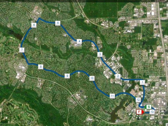 The Woodlands Half Marathon Course