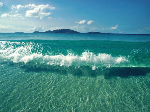 صورة أمواج البحر الجميلة