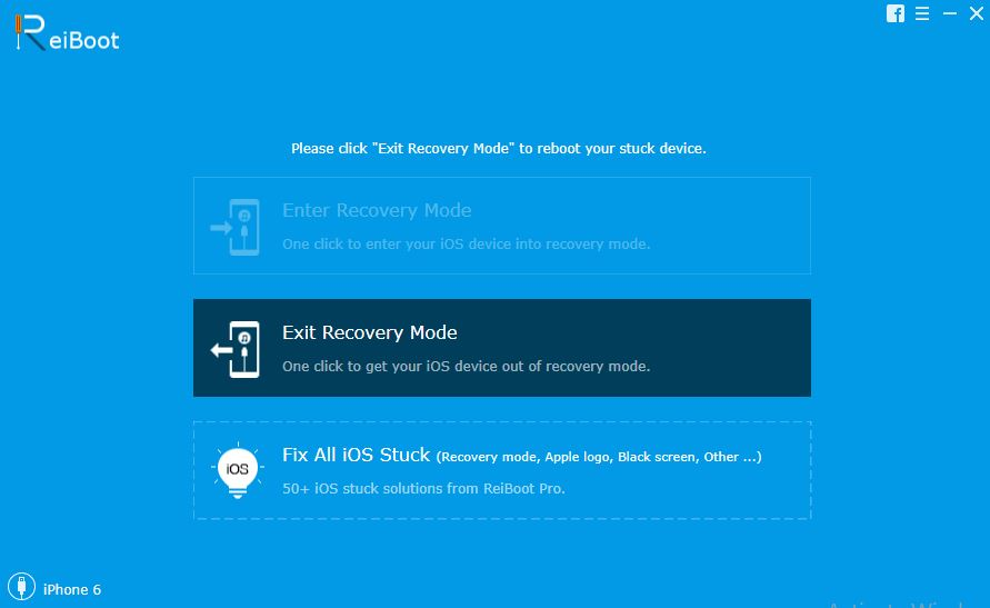 exit recovery mode iphone