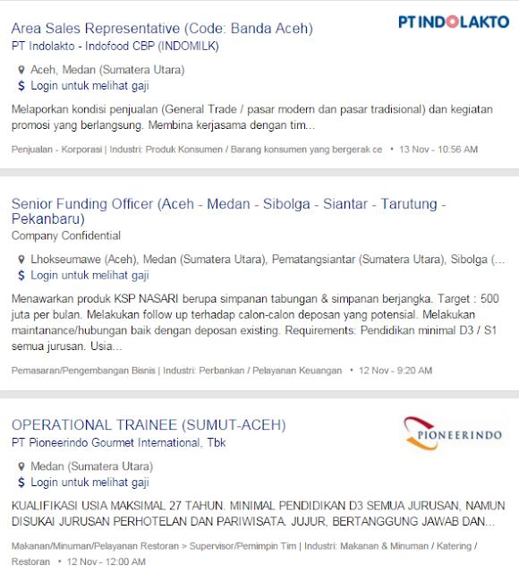 Bulan Ini – Lowongan Kerja Aceh Barat Terbaru 2019